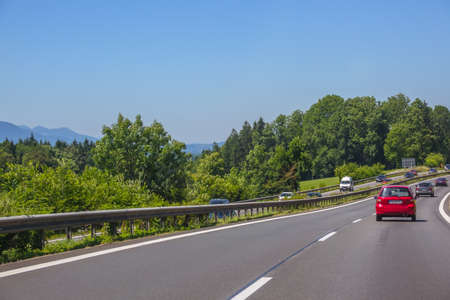 Photo for Germany. Summer day. Suburban highway. Car traffic - Royalty Free Image