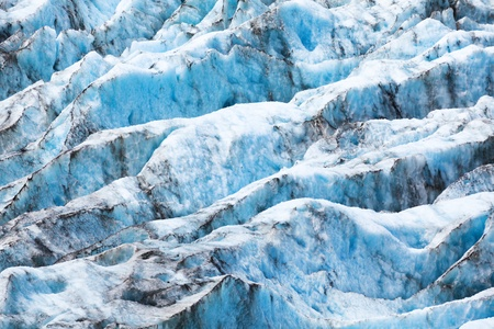 Texture of the glacier in New Zealand