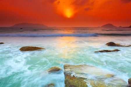 Foto de Sunrise over the sea  Con Dao  Vietnam - Imagen libre de derechos