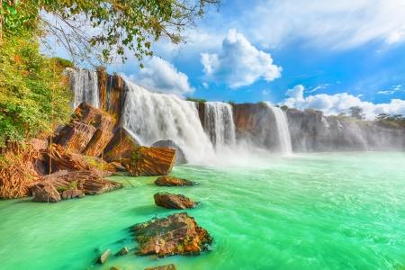Beautiful Dry Nur waterfall in Vietnam