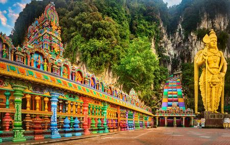 Photo for Beautiful view of colorful stairs of Batu caves, Kuala Lumpur, Malaysia. Panorama - Royalty Free Image