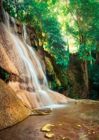 Photo for Beautiful waterfall Sai Yok Noi at national park, Kanchanaburi Province in west Thailand - Royalty Free Image