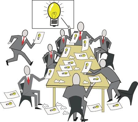 Business ideas meeting cartoon