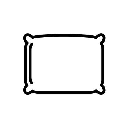 Illustration pour Square pillow minimal black and white outline icon. - image libre de droit
