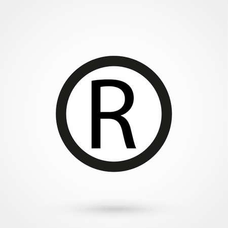 Illustration for Registered Trademark symbol - Royalty Free Image