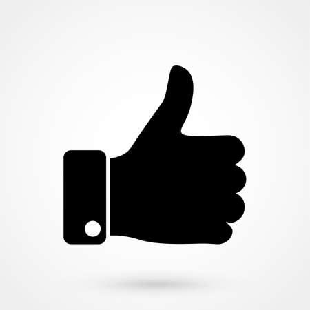 Illustration pour Like icon vector illustration isolated on white background. Finger up sign. I like it symbol. - image libre de droit