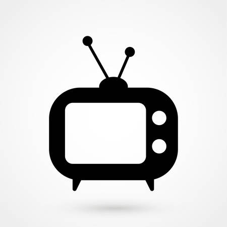 Ilustración de Tv Icon in trendy flat style isolated on grey background. Television symbol - Imagen libre de derechos