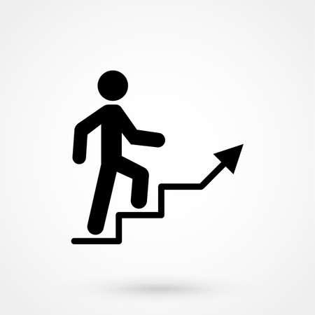 Illustration pour Career ladder vector icon - image libre de droit