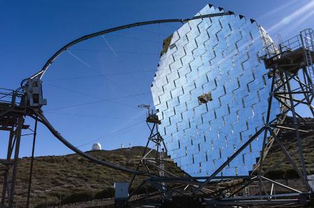 Telescope MAGIC I of the Roque de los Muchachos Observatory on La Palma, Canary Islands