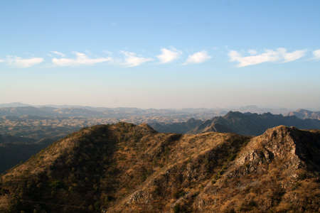 mountain range viewed from hilltop