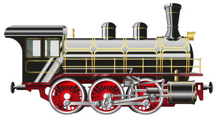 Illustration pour steam locomotive - image libre de droit