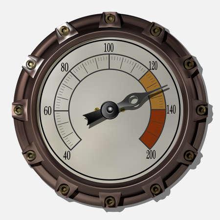 Illustration pour Ancient measuring device in the style of steampunk vector - image libre de droit