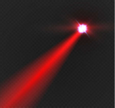 Abstract Red Laser Beam Transparent Isolated On Black Background