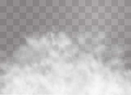 Illustration pour Transparent special effect stands out with fog or smoke. - image libre de droit