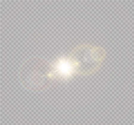 Illustration pour Vector transparent sunlight special lens flash light effect.front sun lens flash. Vector blur in the light of radiance. Element of decor. - image libre de droit