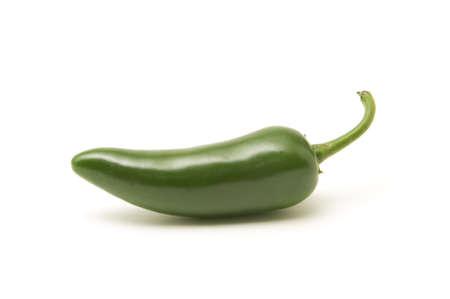 Single jalapeno pepper isolated on white background