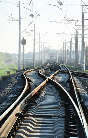 The rails in different directions (in smog time)