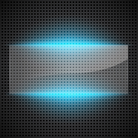 Technological abstract background with glass foreground. Vector illustration