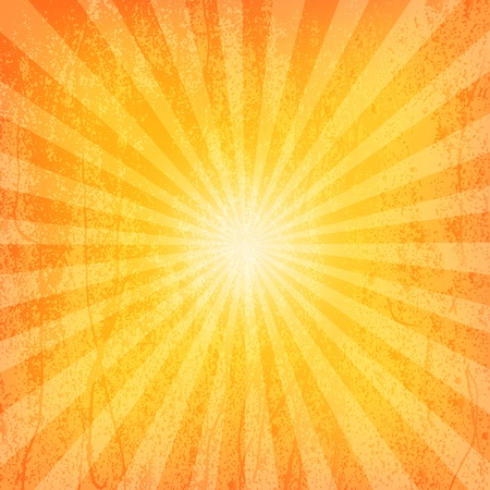 Sun Sunburst Grunge Pattern  Vector illustration