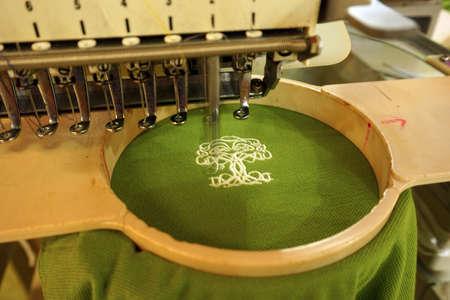 Photo pour Machine embroidery - image libre de droit