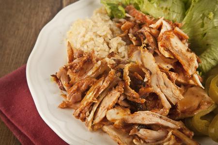Delicious turkish chicken doner kebab grilled meat