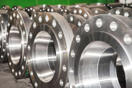 Photo pour Industrial background from part of valves for power, oil or gas industry - image libre de droit