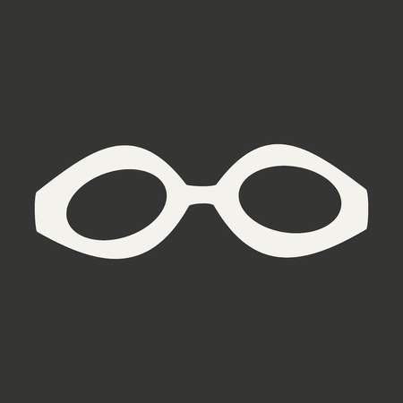 Flat in black and white mobile application swimming goggles
