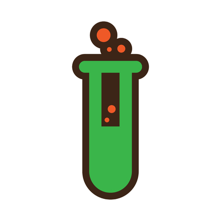Flat with shadow Icon vial of poison on colored background
