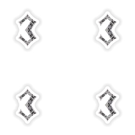 assembly stickers Low poly number 3 in gray mosaic polygonの素材 [FY31049060769]