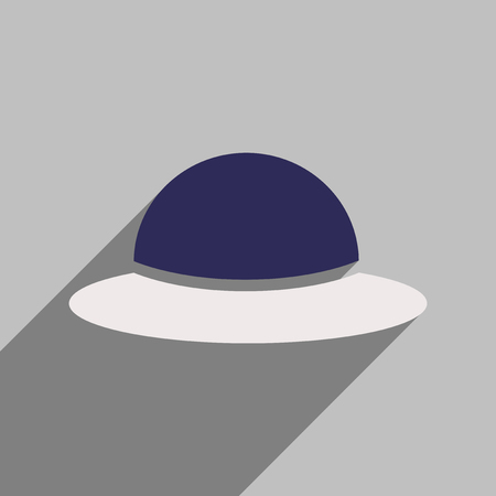 flat icon with long shadow womens hat