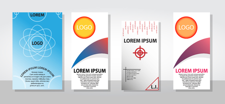 Set of posters flyers pamphlet brochure cover design layout with graphic elements on black, red, turquoise color scheme, vector template in A4 size