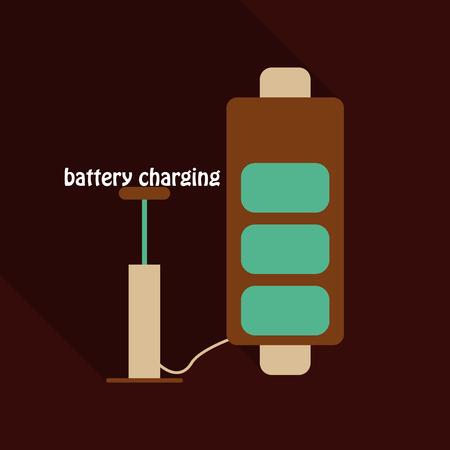 Vektor für Almost fully charged battery of a smartphone - Lizenzfreies Bild