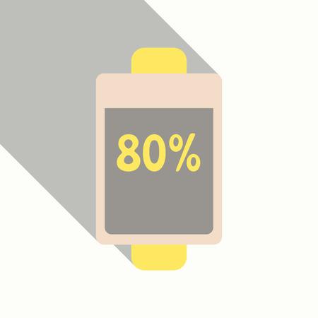 Vektor für Almost fully charged battery - Lizenzfreies Bild