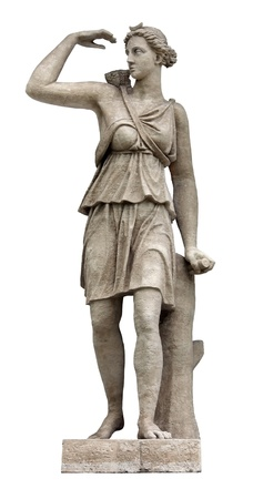 Artemis (identified with Diana by Romans) is Olympian Goddess of the wilderness, the hunt and wild animals, and fertility. Artemis is the twin sister of Apollo.