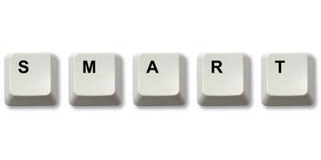 SMART word written from computer keyboard keys