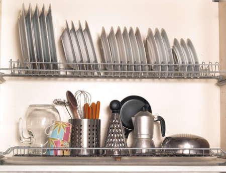 Kitchen racks for plates and utensils