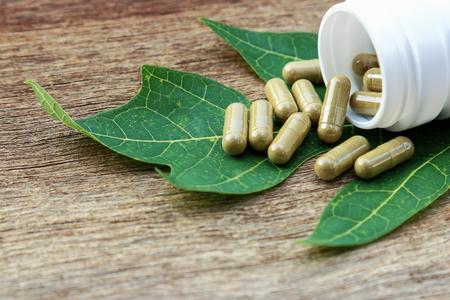 Herbal medicine in capsules