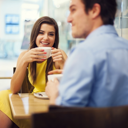 Couple enjoying a coffee