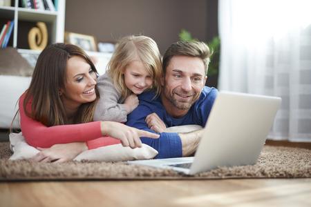 Foto de Playing games with my family - Imagen libre de derechos