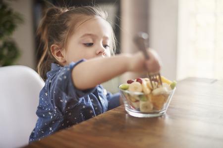 She loves eat fresh fruit