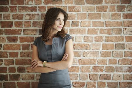 Foto per Beautiful business woman looking away - Immagine Royalty Free