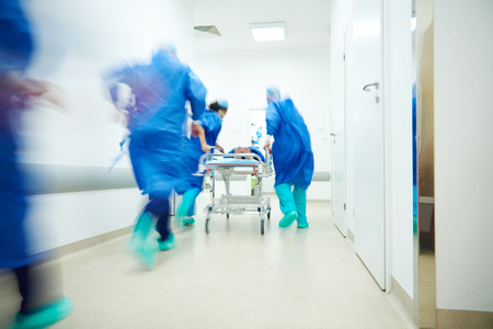 Photo for Doctors running for the surgery - Royalty Free Image