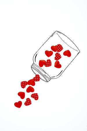 Foto de A jar of with hearts - Imagen libre de derechos