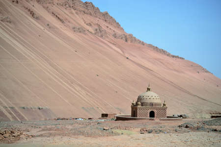 Foto de Desert at Flaming mountains by Turpan, Xinjiang, China - Imagen libre de derechos