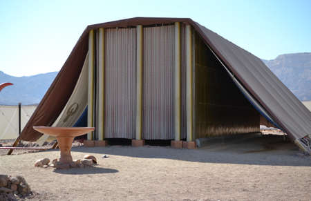 Photo pour Model of Tabernacle, tent of meeting in Timna Park, Negev desert, Eilat, Israel - image libre de droit