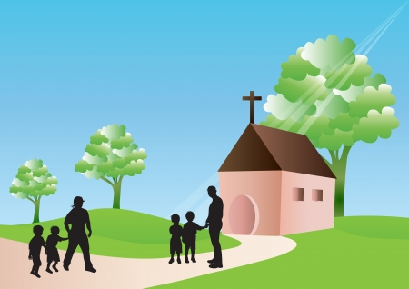 Illustration for Going to church - Royalty Free Image