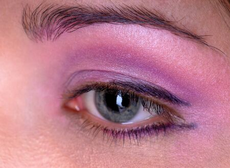 female eye, eyebrow, eye, eyelashes and cosmetics
