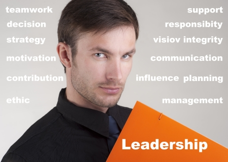 the nice businessman and words about leadership against