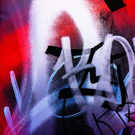 fragments of pictures of graffiti in the urban environment
