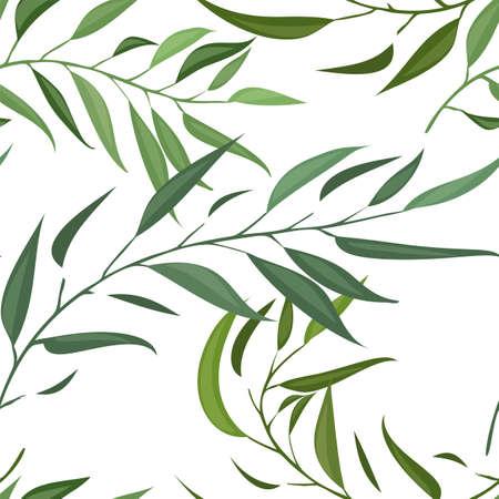 Illustration pour A seamless pattern with leaf vector - image libre de droit